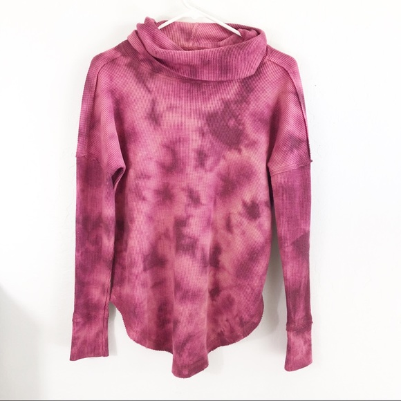 Anthropologie Tops - Anthropologie Maeve Pink Tie Dye Cowl  Neck Top